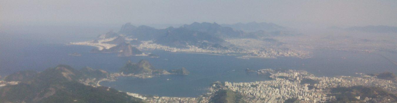 The Guanabara Bay between Niterói and Rio de Janeiro